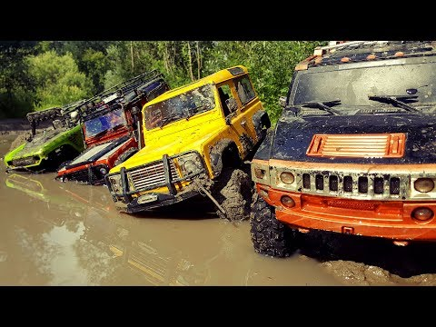 RC Cars MUD OFF Road — Land Rover Defender 90 And Hummer H2 — RC Extreme Pictures