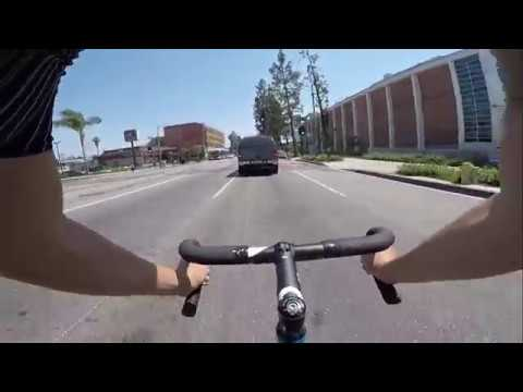 Track bike sprinting on the streets with GoPro Hero 5 Black