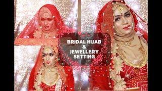 ASIAN BRIDAL HIJAB TUTORIAL & JEWELLRY SETTING