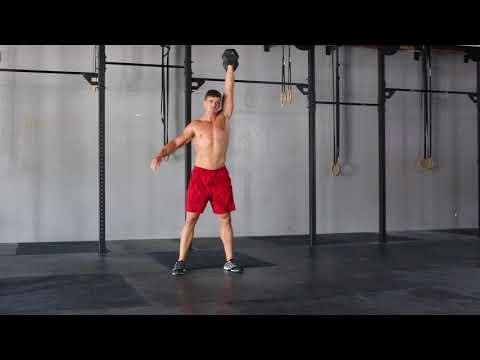 Exercise thumbnail image for Single Arm Dumbbell Hang Clean to Push Jerk