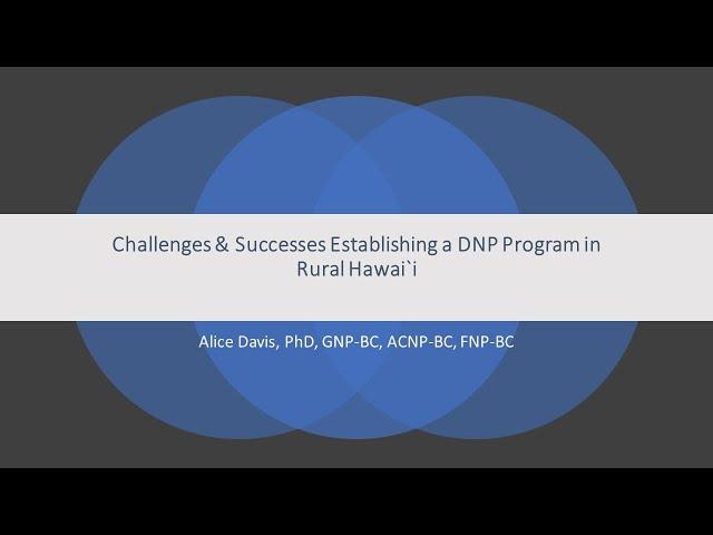 ハワイ島ルーラル地域でDNPプログラムを確立するための挑戦と成功