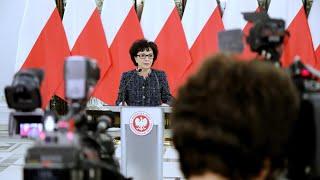 Briefing prasowy Marszałek Sejmu Elżbiety Witek przed 3. posiedzeniem Sejmu [ZAPIS TRANSMISJI]