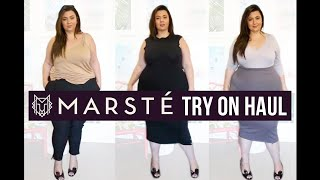 PLUS SIZE FASHION TRY ON HAUL | MARSTÉ by Marlena Stell of Makeup Geek Cosmetics | Sometimes Glam