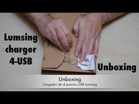unboxing cargador multiusb - YouTube