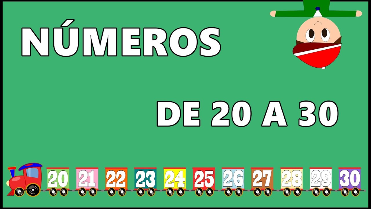 Aprender a Contar los Números de 20 a 30 en Español - Numbers 20 to 30  in Spanish for Kids