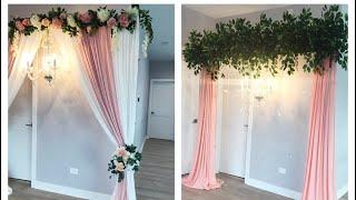 DIY- Quick And Easy Chandelier Backdrop Diy- Wedding Decor Diy- How To Hang Chandelier