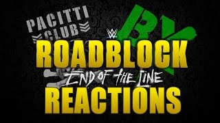 WWE Roadblock: End Of The Line Reactions