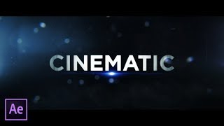 4 Cinematic Trailer Title Techniques    After Effects Tutorial