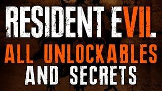 Resident Evil 7 ALL UNLOCKABLES   RE7 Infinite Ammo, X Ray Glasses, Circular Saw, Toy Shotgun & Axe