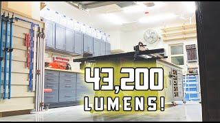 Garage Shop LED Lighting Upgrade // Cheap LED Fixtures