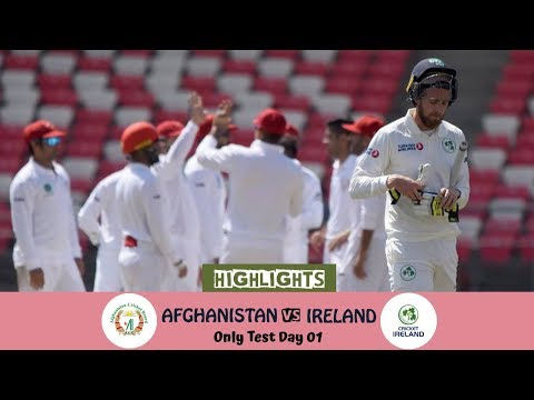 Highlights Afghanistan vs Ireland    Only Test    Day 1    Afg vs Ire in India 2019