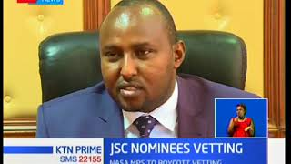 NASA affiliated members of parliament indicate they will boycott vetting of three nominees to JSC