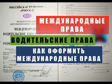 Международное водительское удостоверение.  Международные права.  Международные водительские права