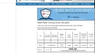 Aerobic Heart Rate Zone Chart & Calculator