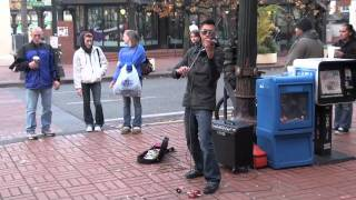 AMAZING Street Violinist Draws Audience - Halo Remix (beyonce)