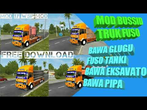 4 MOD BUSSID FUSO FIGHTER TRONTON BY WSP MOD FREE DOWNLOAD