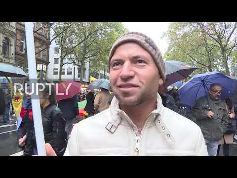Germany: Kurdish activists march for Rojava amid Turkey's ceasefire