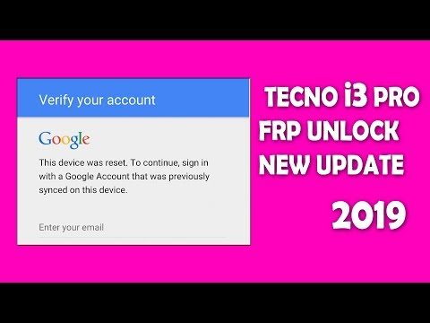 Download Tecno I3 Frp Unlock Google Account Remove Without Any Box