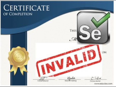 Do we need any Selenium Certification? Is this valid? What about ...
