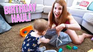 Baby Micah Opens Her Birthday Presents - First Birthday Gift Haul!