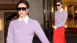 Victoria Beckham Dons Bright Outfit for New York City Outing