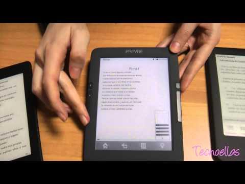 eReaders con pantalla de tinta electrónica y luz