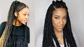 Latest And Trending Black Braided Hairstyles For African Women.