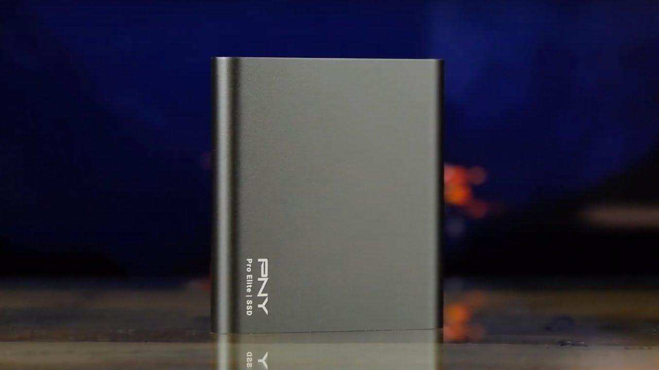 Внешний SSD PNY Pro Elite 1TB USB 3.1 Gen 2 Type-C (Black) PSD0CS2060-1TB-RB video preview