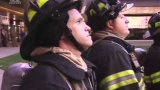 Reaction of firefighters on falling people from WTC