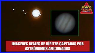 Así se veía Júpiter y sus cuatro lunas en esta semana