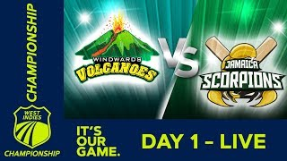 Windwards v Jamaica - Day 1 | West Indies Championship | Thursday 17th January 2019