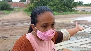 Desabafo de moradora que sofre com problema de rua alagada