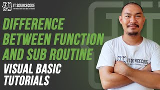 Difference Between Functions and Sub Routine in VB.Net 2019 Best Practices