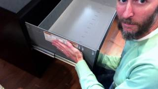 How to Remove HON Lateral File Cabinet Drawers (Model H682)