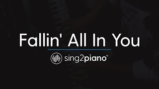 Fallin' All In You (Piano Karaoke Instrumental) Shawn Mendes