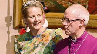 Mabel Von Oranien-Nassau - Wie Eine Blumenwiese! Farbenfroher Auftritt Beim Dinner Mit Der Queen