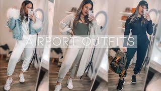 AIRPORT OUTFIT LOOKBOOK   Cute And Comfy Travel Outfit Ideas