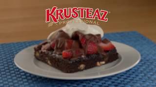 Strawberries & Cream Double Fudge Brownies