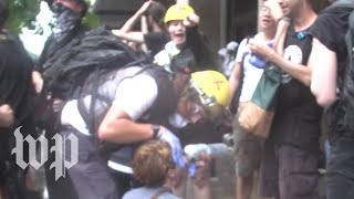 'Get that camera!' Antifa harass press at 'Unite the Right' rally