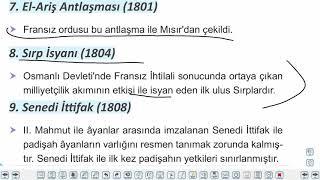 Eğitim Vadisi 11.Sınıf Tarih 8.Föy 18.Yüzyıldan 20.Yüzyıla Avrupa ve Osmanlı Devleti Konu Anlatım Videoları