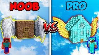 Minecraft NOOB vs. PRO: FLYING HOUSE in Minecraft!