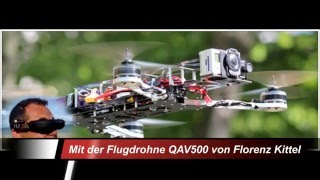 preview picture of video 'FK-2009 crash my Quadkopters QAV500'