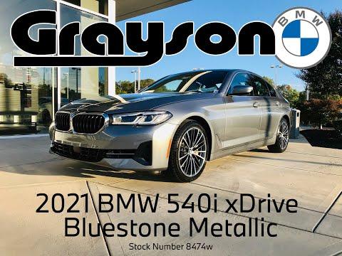 2021 BMW 540i xDrive in Bluestone Metallic Video Walk Around at Grayson BMW in Knoxville - #8474w