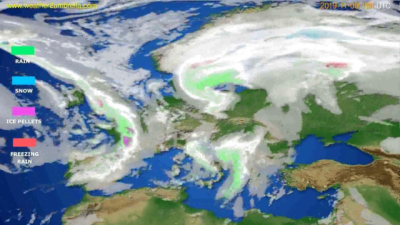 Precipitation forecast Europe // modelrun: 12h UTC 2019-11-07