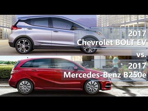 2017 Chevrolet Bolt EV vs. 2017 Mercedes-Benz B250e technical comparison