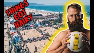 I got a RED CARD   AVP Hermosa Beach Volley Vlog 2018