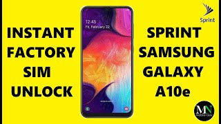 SIM Unlock Sprint / Boost Mobile Samsung Galaxy A10e Instantly!