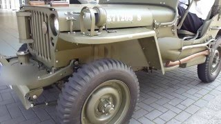 1944 WW2 Willys MB Jeep Start Up and Sound 2.2 60 hp 100 Km/h 62 mph