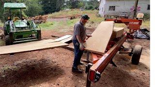 Milling A Monster American Chestnut Log