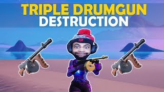 TRIPLE DRUM GUN DESTRUCTION!
